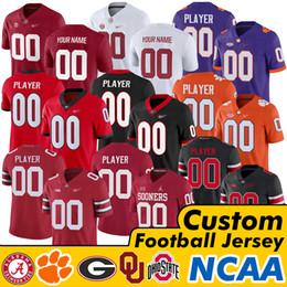 NCAA Alabama Crimson Tide Clemson Tigres Geórgia Bulldogs Jake Fromm Estado de Ohio Buckeyes Oklahoma Sooners Tua Tagovailoa Campos de Justin em Promoção