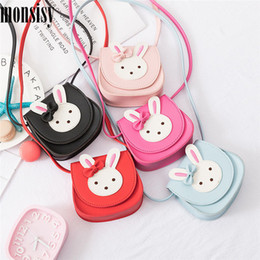 Discount baby change backpack - Monsisy 2019 Girl Coin Purse Handbag Children Wallet Small Coin Box Bag Cute Rabbit Kid Money Bag Baby Shoulder Bag Chan