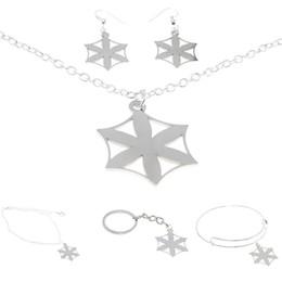 Talisman necklace online shopping - Aphrodite Jewelry set Flower of Aphrodite Emblem Amulet Talisman Hex Sign Charm Necklace Bangle Kerying Earring Ankle