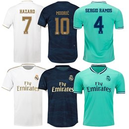 soccer jersey real madrid away Australia - 2020 Real Madrid Home White #7 HAZARD #9 BENZEMA #11 BALE soccer jerseys 19 20 Men Soccer shirts away madrid Cunstomized Football Shirts