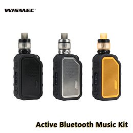 Speaker active online shopping - Wismec Active Kit with Amor NS Plus W Bluetooth Music Mod mAh Built in Battery Waterproof ml Tank E Cigs Speaker Authentic