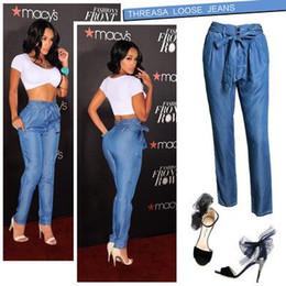 ea3f7f0d7 Denim Sexy Pant Australia - 2019 Blue Denim Jeans Street Wear Sexy Women  High Waist Belted