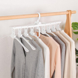 Plastic Foldable Clothes Hangers Australia - Household Multi-layer360 Degree Rotation Drying Racks Multifunctional Wardrobe Magic Hanger Foldable Clothes Storage Hangers DH1029
