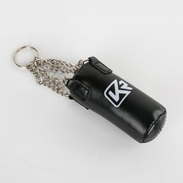 SportS Sandbag online shopping - PU Taekwondo target mikeychain key tag Boxing glove Sport key rings pendant Cartoon Hanging Charm distributed gifts sandbag