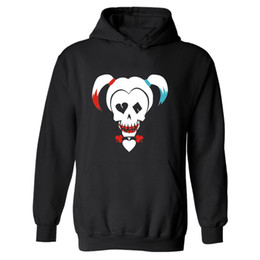 Big Hooded Hoodie Sweatshirt UK - DC Suicide Squad Harley Quinn Hooded Mens XXXL Hoodie in Mens Hoodies and Sweatshirts Set Big Size 4XL