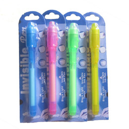 Индивидуальная блистерная карточка для каждой черной световой ручки, УФ-ручка с ультрафиолетовым светом / невидимой чернил ручка / невидимая ручка на Распродаже