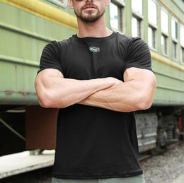 0c663fbf90d0 Simple Mens Fitness O Neck T Shirt Male Short Sleeve Bodybuilding Skin  tshirt Men Tight-drying Clothes Plus Size Top camisetas