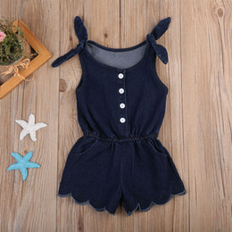 Toddler Sexy Australia - Sexy Newborn Toddler Kids Baby Girls Sleeveless Romper Jumpsuit Sun Suit Outfits Denim