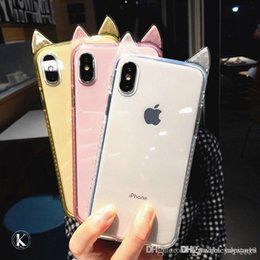 $enCountryForm.capitalKeyWord UK - Hot sell Fashion Cute Cartoon Cat Ears Phone Case For iPhone 8 6 6S 7 Plus Ultra Slim Soft Silicon Clear Back Cover for iPhone X XS xr max