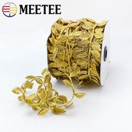$enCountryForm.capitalKeyWord UK - Meetee 4cm Golden silver leaf trim ribbon lace For DIY Scrapbook Wedding Home Decoration Gift Wrapping C5-20