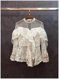 Women's Clothing Getsring Women Blouses Summer Tops Cotton White Shirt 2018 Spring Temperament Short Sleeve Gauze Spliced Womens Blouse Black Xl