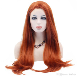 $enCountryForm.capitalKeyWord Australia - Natural Synthetic Lace Front Wigs Long Natural Straight Orange Synthetic Lace Wigs Heat Resistant Fiber Natural Hairline Soft Hair For Women