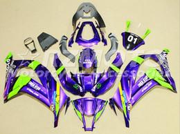 Zx 14 Fairing Purple Australia - 3Gifts New ABS Motorcycle bike Fairings Kit Fit for kawasaki Ninja ZX-10R ZX10R 2011 2012 2013 2014 2015 11 12 13 14 15 nice purple green