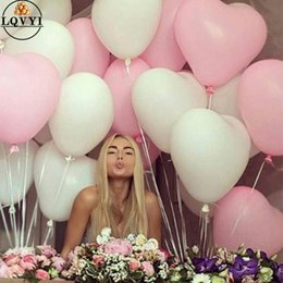Wholesale 50pcs g inch Red Pink White Heart Latex Balloons Wedding Marriage Birthday Party Decors Inflatable Helium Globos Proposal SH190723