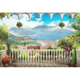 Sullo sfondo di Villa Scenic Photography sullo sfondo del cielo blu e del mare