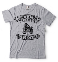 9bbdbc597 motorcycle Biker Funny Snore Snoring T-shirt Funny Gift for Dad Husband  Shirt Funny free shipping Casual Tshirt top