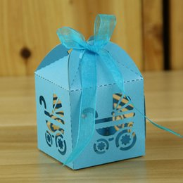 $enCountryForm.capitalKeyWord Australia - 50PCS Party Favour Table Festive Candy Gift Box DIY Supplies Baby Carriage Birthday Hollow Ribbon Bridal Shower Laser Cut