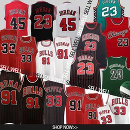 Bulls jerseys online shopping - 23 MJ Scottie Pippen Dennis Rodman MJ Bulls Jersey Retro Basketball Jerseys