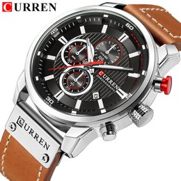 men watch leather curren Australia - CURREN Men Fashion Casual Watch Men Quartz Clock Leather Strap Waterproof Date Wristwatch reloj hombre