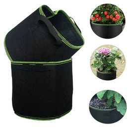 Root bags online shopping - Non woven Planting Bag Non Woven Grow Bag Fabric Pots Plant Pouch Root Container Breathable Nursery Bag With Handles Gardening Tools GGA2147