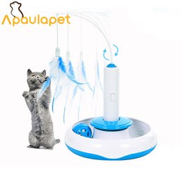 $enCountryForm.capitalKeyWord Australia - Apaulapet Cat Electric Teaser Interactive Toy Rotating Designed Funny Feather Toys For Pet Cats Q190523
