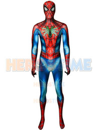 $enCountryForm.capitalKeyWord Australia - 2019 New Spider Armor MK IV Suit Spiderman PS4 Games Costume 3D Printed Spandex Halloween Cosplay Suit For Adult Kids  Custom Free Shipping