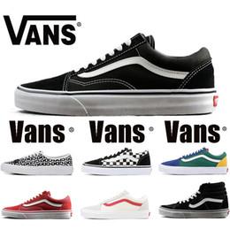 7dfdf2337 2019 Original Vans old skool sk8 hi mens para mujer zapatillas de lona  negro blanco rojo YACHT CLUB MARSHMALLOW moda skate casual zapatos tamaño  36-44