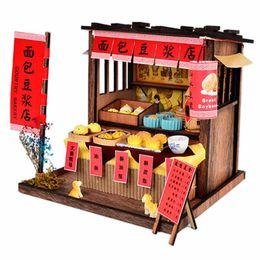 $enCountryForm.capitalKeyWord Australia - 1 Set Special DIY Wooden Doll House with lights Chinese Cuisine diy Miniature dollhouse Toys for children Miniature Food Shop