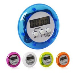 Wholesale 600pcs Round digital kitchen timer Kitchen helper Mini Digital LCD Kitchen Count Down Clip Timer Alarm By DHL LX6132