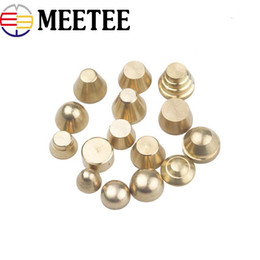$enCountryForm.capitalKeyWord NZ - Meetee Solid Brass Handbag Decorative Studs Button Round Head Rivet Screw Bags Hardware Nail Rivet Metal Buckles DIY Leather Craft