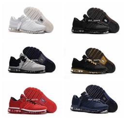Venta al por mayor de Alta calidad chaussures nike air max 2017 nueva llegada zapatos para hombre hombres sneaker maxes 2017 para hombre corriendo zapatos deportivos BENGAL naranja gris KPU tamaño 40-47