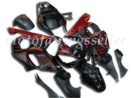 black flame fairing Australia - New ABS Fairing Kits Fit For YAMAHA YZF-R6 98-99-00-01-02 fairings set YZF600 1998 1999 2000 2001 2002hot sales Red Flame Black