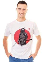 Retreez Vintage Ronin Samurai Guerreiro Nascer Do Sol Gráfico Impresso T-Shirt Tee venda por atacado