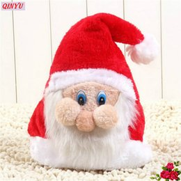 Tree mask online shopping - Plush Christmas Santa Claus Hat Cute Adult Children Xmas Exquisite Cloth Hats With Mask for Decoration Party z