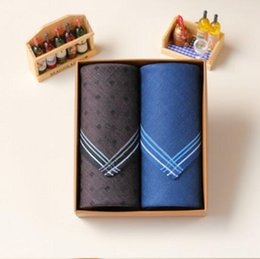 $enCountryForm.capitalKeyWord NZ - Novelty Wedding Gift Dining Table Men Striped Handkerchief Cloth Clothes Men Pocket Square Towels 43CM hankies hanky fazzoletti