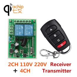 Switch Gate Australia - QIACHIP 2CH AC 110V 220V 433Mhz Wireless Remote Control Switch Relay Receiver & Transmitter For Light Gate Car Garage Door