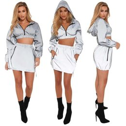 Ball Suits Australia - With Ins Women's Clothes Motion Leisure Time Suit Female Long Sleeves Sleeve Head Windbreaker Two Piece Set C19032801