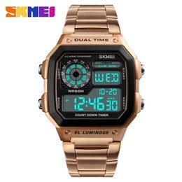 Wholesale 2Beautiful Trend Man Business Affairs Surface Outdoor Sport Personality Square Number Display Wrist Watch