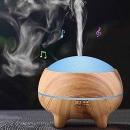 Toptan satış Bluetooth Hoparlör Kablosuz Müzik Çalar Hava Nemlendirici Esansiyel Yağı Difüzör Nemlendirici Mist Maker LED Aromaterapi Ev Hoparlör