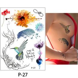 35d579e22da22 1pc sexy Chest Bikini tattoo stickers large flower shoulder arm Sternum  tattoo sleeve body back paint Ruby necklace summer girls