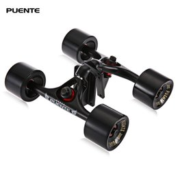 6ead2b5d053 trucks skateboard Puente 2pcs Set Skateboard Truck With 70 50mm Skate Wheel  + Riser Pad + ABEC - 9 bearings Installing