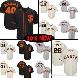 35945eaf9 San Francisco Baseball Jersey Giants 28 Posey 22 Will Clark 35 Brandon  Crawford 40 Madison Bumgarner Jerseys 2019