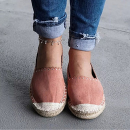fishermen flats Australia - Oeak 2019 Women Shallow Mouth flats shoes Espadrilles Slip on Round Toe Casual Flat Boat Fisherman Shoes