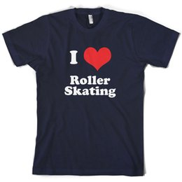 Roller M Australia - I Love Roller Skating Mens T-Shirt 10 Colours Skates Equipment PresentFunny free shipping Unisex Casual
