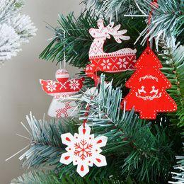 $enCountryForm.capitalKeyWord Australia - 12PCS Wood Christmas Pendants Hanging Drop Ornaments For Holiday Home Bar Shop Decor DIY Craft kerst decorat Adornos De Navidad