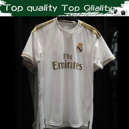 a3b46e05c 2019 Real Madrid Men s Soccer jersey Home white Away green 19 20  9 BENZEMA   11 BALE  12 MARCELO Short Sleeve Customized Football Uniforms