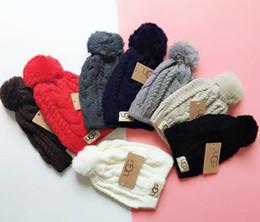 Hair fasHion boy Hot online shopping - New Design Fashion Hot Sale Winter And Autumn Hair Ball Hat High Quality Warm Cap Men Women Cap Knitted Wool Hat Elastic Adjustable U11224