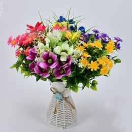 $enCountryForm.capitalKeyWord Australia - Gerbera Daisy Silk Artificial Flowers Bunch Fake Flowers Outdoor Plants Leaves Autumn Decoration For Wedding Home Accessories