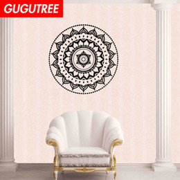 chinese famous paintings Australia - Decorate Home India Buddhism mandala flower art wall sticker decoration Decals mural painting Removable Decor Wallpaper G-1111