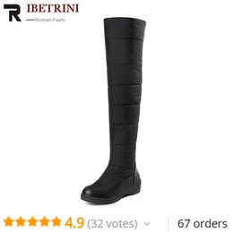$enCountryForm.capitalKeyWord Australia - Women Over Knee High Boots Rubber Sole Platform Winter Fu r Shoes Woman Waterproof Booties Large Size 35-44